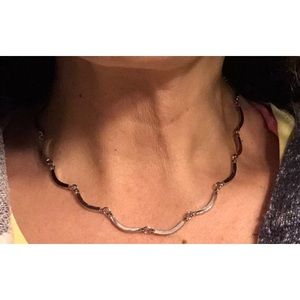 Vintage Polished SilverTone Choker Necklace (2)